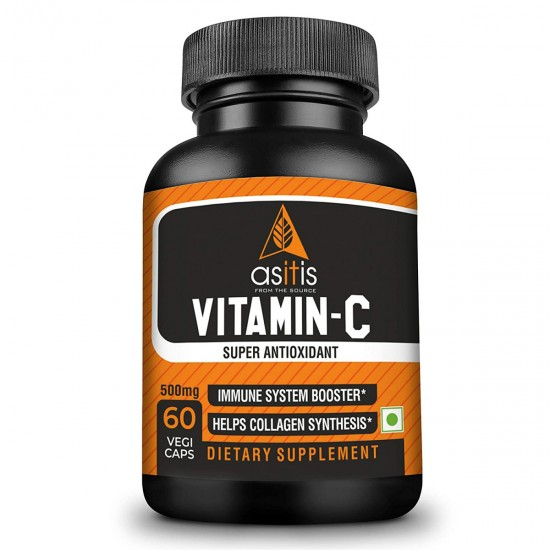 AS-IT-IS Nutrition Vitamin C 500mg - 60 capsules