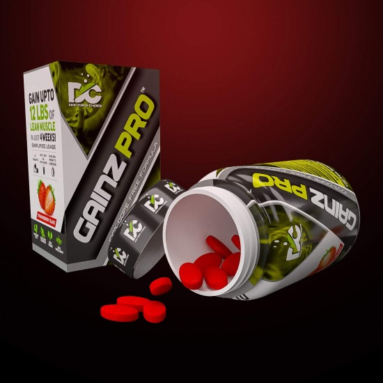 Doctors Choice Gainz Pro For I Increased Muscle Mass & Endurance I Mass Gainer I Improves Muscle Definition - 100 Tablets